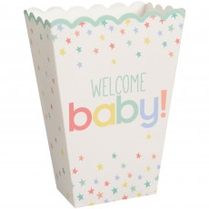 Baby Shower Party Supplies - Favour Boxes Neutral Popcorn Boxes