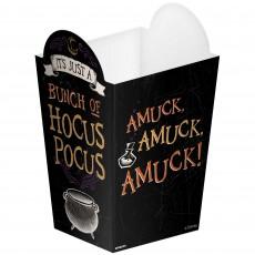 Halloween Hocus Pocus Popcorn Favour Boxes 13cm x 8cm x 8cm Pack of 8