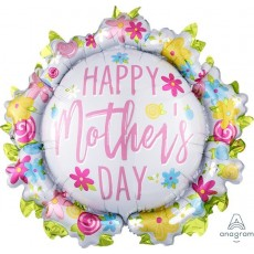 Mother's Day SuperShape Wreath Shaped Balloon