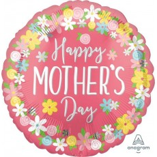 Mother's Day Floral Surround Foil Balloon