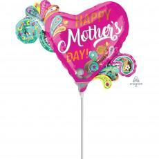 Heart Mini Paisley Happy Mother's Day! Shaped Balloon