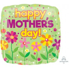 Square Jumbo Shape HX Garden Patch Happy Mother's Day! Shaped Balloon 71cm