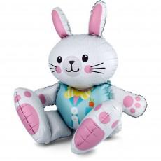 Easter CI: Large Multi-Balloon Sitting Bunny Shaped Balloon 71cm x 76cm