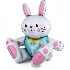 Easter CI: Large Multi-Balloon Sitting Bunny Shaped Balloon