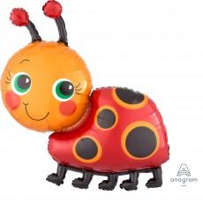 Ladybug Fancy SuperShape XL Miss Lady Bug Shaped Balloon
