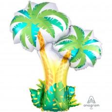 Hawaiian Luau SuperShape XL Tropical Palm Trees Shaped Balloon