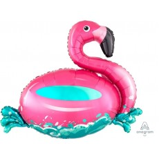 Hawaiian Luau SuperShape XL Floating Flamingo Shaped Balloon