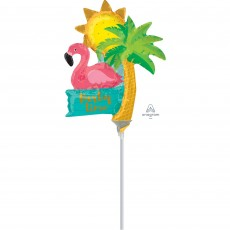 Hawaiian Luau Mini Lets Flamingle Shaped Balloon