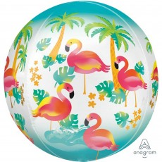 Hawaiian Luau Let's Flamingle Shaped Balloon