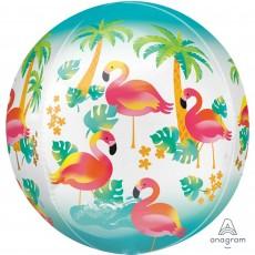 Hawaiian Party Decorations Let's Flamingle Shaped Balloons