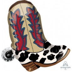 Cowboy & Western Wester Boot Yeehaw Foil Balloon