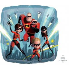 Square Incredibles 2 Standard HX Shaped Balloon 45cm