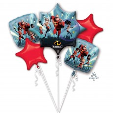 Incredibles 2 Bouquet Foil Balloons Pack of 5