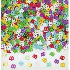 40th Birthday Embossed Confetti