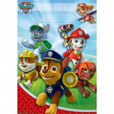 Paw Patrol Folded Loot Favour Bags 23cm Pack of 8