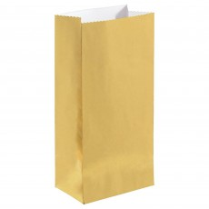 Gold Mini Paper Favour Bags