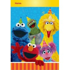 Sesame Street Folded Loot Favour Bags 23cm Pack of 8