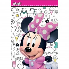 Minnie Mouse Happy Helpers Folded Loot Favour Bags 23cm Pack of 8