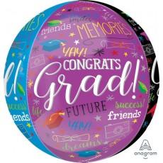 Orbz XL Graduation Memories Congrats Grad! Shaped Balloon 38cm x 40cm
