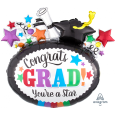 Graduation SuperShape Shaped Balloon