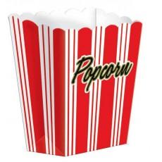 Stripes Large Popcorn Favour Boxes 13cm x 18cm x 6cm Pack of 8