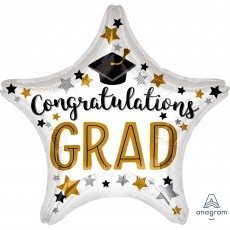 Star Graduation Standard XL Congratulations Grad Shaped Balloon 45cm