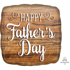 Father's Day Standard HX Wood Sign Foil Balloon
