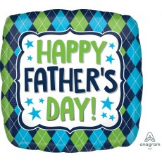 Father's Day Standard HX Argyle Foil Balloon
