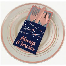 Bridal Shower Party Supplies - Navy Bride Cutlery Holders