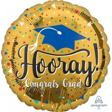 Graduation Gold Jumbo HX Foil Balloon