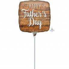 Father's Day Wood Sign Foil Balloon