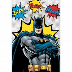 Batman Party Supplies - Favour Bags Heroes Unite Plastic Loot Bags