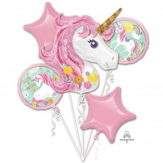 Magical Unicorn Bouquet Foil Balloons Pack of 5