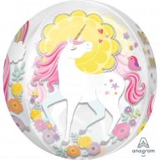 Orbz XL Magical Unicorn Shaped Balloon 38cm x 40cm