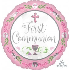 First Communion Standard HX Girl Foil Balloon