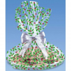 Christmas Holly & Berries Cookie Tray Cello Favour Bags