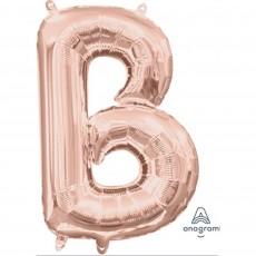 Rose Gold CI: Letter B Shaped Balloon 40cm