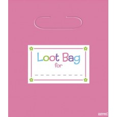 Multi Colour Trendy Assorted Loot Favour Bags 23cm Pack of 8