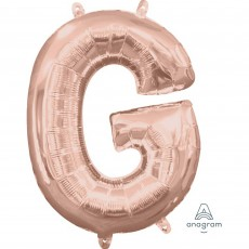 Letter G Rose Gold CI: Shaped Balloon
