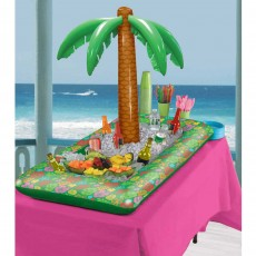 Hawaiian Luau Inflatable Summer Luau Palm Tree Buffet Cooler