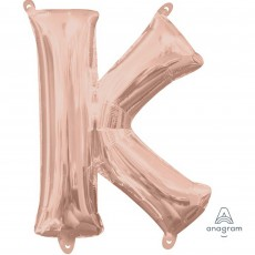 Letter K Rose Gold CI: Shaped Balloon