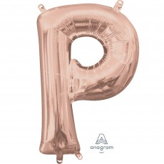 Letter P Rose Gold CI: Shaped Balloon