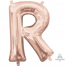 Letter R Rose Gold CI: Shaped Balloon
