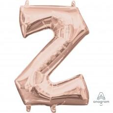 Letter Z Rose Gold CI: Shaped Balloon
