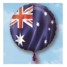 Round Standard HX Australia Day Flag Foil Balloon 45cm