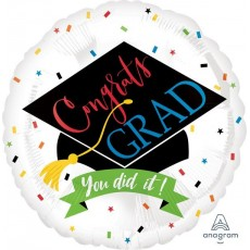 Graduation Standard HX 100% Done Foil Balloon