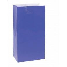 Bright Royal Blue Large Paper Favour Bags 25cm x 13cm Pack of 12