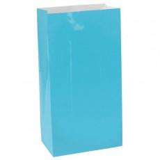 Caribbean Blue Large Paper Favour Bags 25cm x 13cm Pack of 12