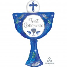 First Communion SuperShape XL Boy Shaped Balloon