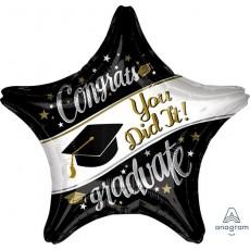Star Graduation Jumbo On Your Way Congrats You Did It Graduate Shaped Balloon 71cm